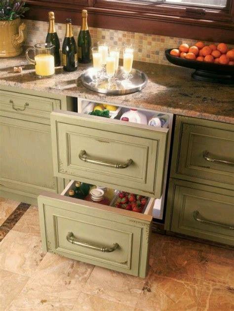 genius hidden mini fridge drawers   kidding  kitchen storage solutions