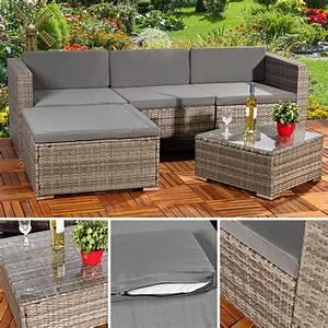 Gartenstühle Polyrattan Grau : polyrattan gartenlounge gartengarnitur sofa grau real ~ Lateststills.com Haus und Dekorationen