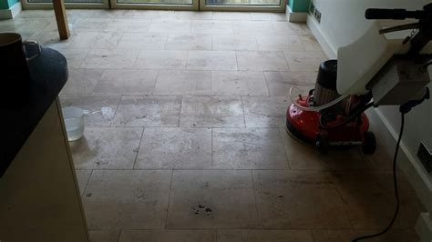 cleaning limestone floors kitchen unmaintained limestone tiled kitchen floor restored 5458