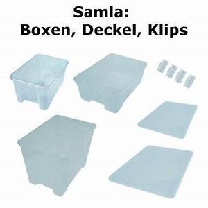 Ikea Boxen Samla : ikea samla boxen deckel verschlussklips div gr en transparent ebay ~ Watch28wear.com Haus und Dekorationen