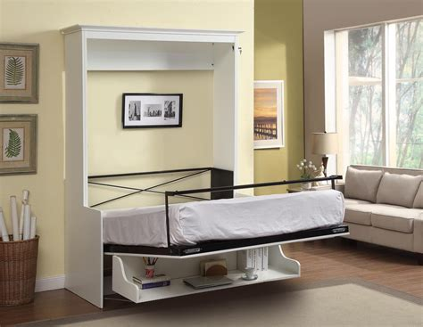 queen bed with desk gabriella queen murphy bed with desk white 2 299 99