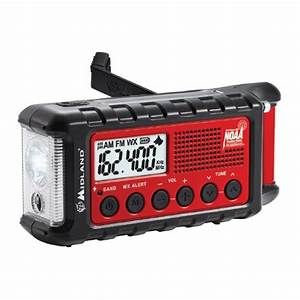 Midland Er310 Emergency Hand Crank Radio W   Flashlight