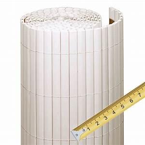 sichtschutzzaun pvc kunststoff meterware rugen weiss With feuerstelle garten mit balkon sichtschutz meterware weiß