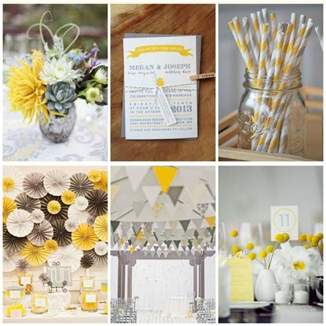 idees deco mariage jaune blanc  gris communion
