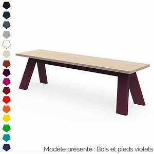Banc Design Interieur : banc design en bois et m tal personnalisable int rieur et ext rieur ~ Teatrodelosmanantiales.com Idées de Décoration