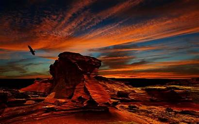 Desert Sunset Landscape Colorful Chile Rock Atacama
