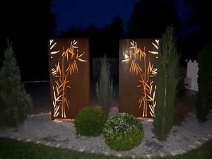 Sichtschutz Pflanzen Pflegeleicht : sichtschutz f r den garten aus corten stahl rost in ~ A.2002-acura-tl-radio.info Haus und Dekorationen