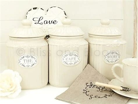 french tea coffee  sugar jars bliss  bloom
