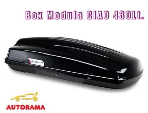 modula box auto box da tetto portatutto modula ciao 430 litri nero
