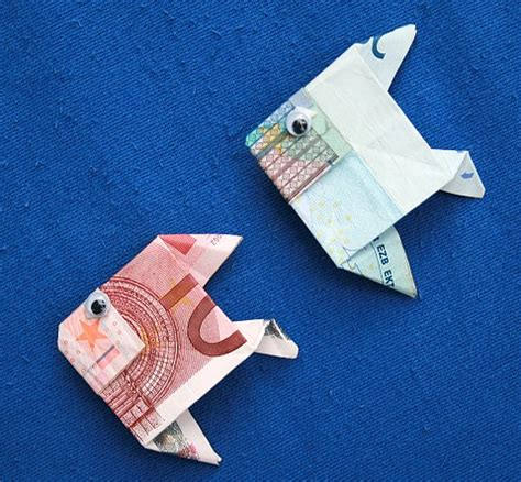 fische aus geld basteln geldgeschenke fische geld falten fisch