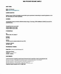 Resume Objective For Business Administration Free 7 Sample Mba Resume Templates In Ms Word Pdf