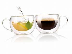 Tee Im Glas : cucina di modena teegl ser doppelwandiges kaffee tee glas 2er set glastassen ~ Markanthonyermac.com Haus und Dekorationen