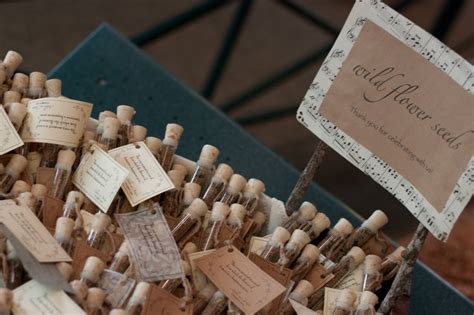 rustic wedding favors flower seed wedding favors corked