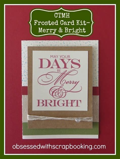 ctmh close   heart frosted christmas card kit merry