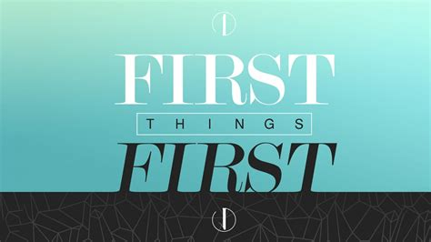 First Things First | Media | Healing Place Church