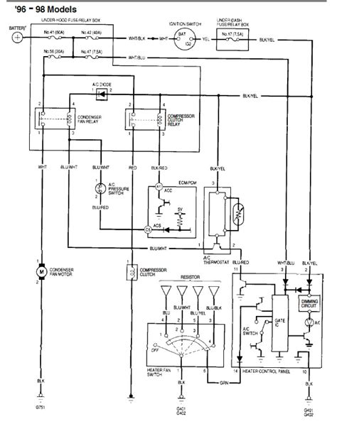 2000 Acura Tl Electric Schematic by A C Not Engauging On 97 Civic Ex Honda Tech Honda