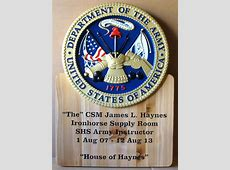 Military Carved Wood Plaques for Units & Individuals