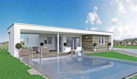 bungalow mit flachdach bungalow terra 126 haas fertighaus