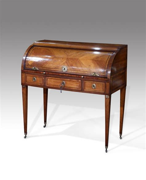 secretaire baise bureau bureau and secretaire 18th century tulipwood cylinder bureau the quarter veneered