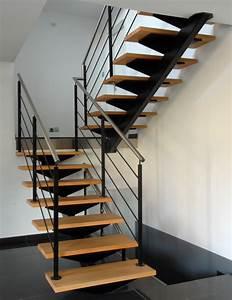 Escalier En U : staircase with a central stringer schaffner ~ Farleysfitness.com Idées de Décoration