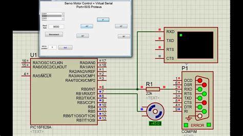 Servo Motor + Matlab Gui + Microcontroller Pic16f628a