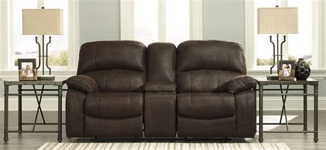 Glider Reclining Loveseat With Console by Zavier Truffle Glider Reclining Console Loveseat From