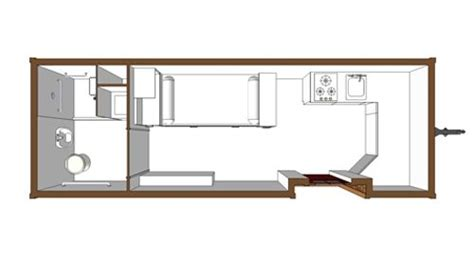 Tiny House Handicap Accessible Floor Plan.
