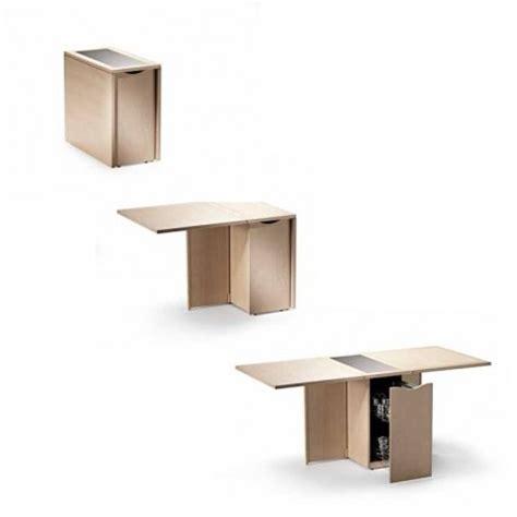 optimiser une cuisine spécial petit espace table pliante et meuble gain de