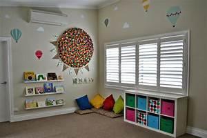 Rangement Chambre Enfant : rangement salle de jeux enfant 50 id es astucieuses ~ Teatrodelosmanantiales.com Idées de Décoration