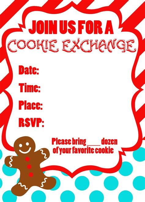 Cookie Invitation Template by Free Invitations Invitations Templates