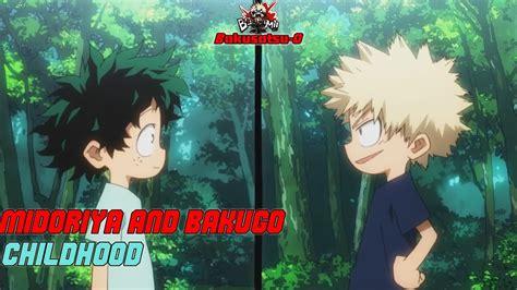 midoriya  bakugo childhood boku  hero academia