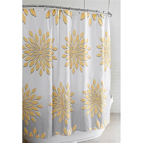 wide shower curtain wide medina floral shower curtain in white yellow