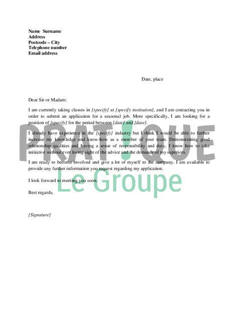 modele lettre de motivation d été lettre de motivation pour un d 233 t 233 en anglais