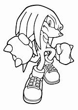 Knuckles Coloring Pages sketch template