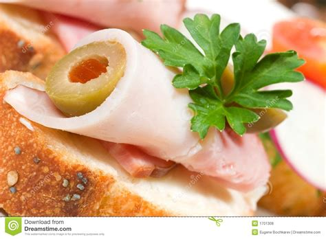 ham canapes ham and olive canape royalty free stock photos image