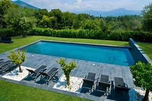 99 jardins et terrasses avec piscines de design moderne With idee amenagement jardin avec piscine