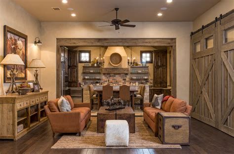 Create Warm Rustic Living Room