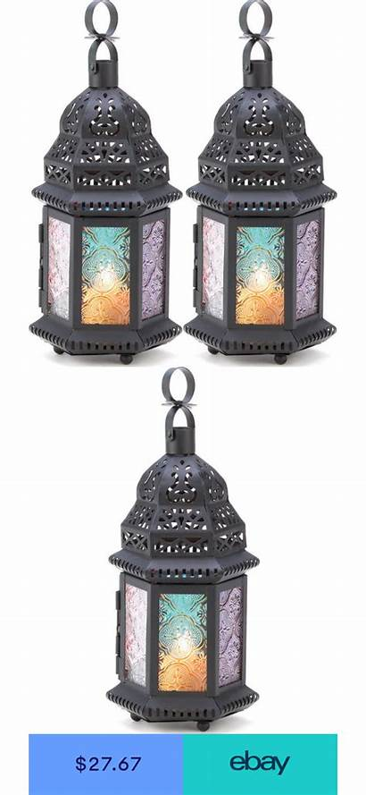 Moroccan Candle Lanterns Rainbow Multi Lantern Holder