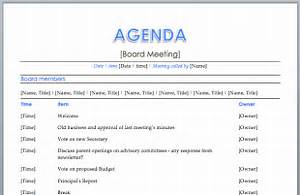 Sample Staff Meeting Agenda Template Apps Directories