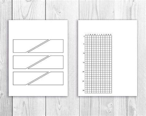 bullet journal template printables bullet journal