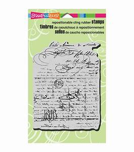 stampendous cling rubber stamp 4quotx6quot sheet vintage letter With cling on letters