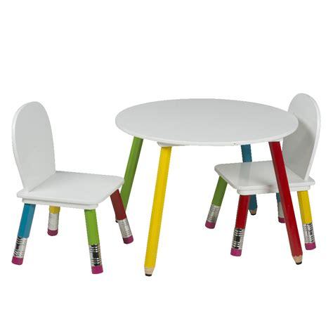table et chaise pour enfants ensemble table et chaises enfants pieds crayons de