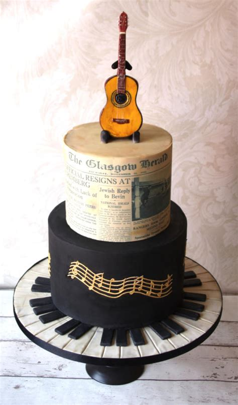 Music Themed 70th Birthday Cake  Cake By Donnasdelicious