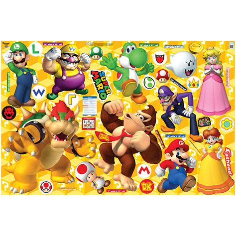 fathead princess wall decor mario characters collection wall decal shop