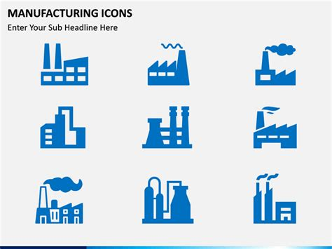 manufacturing icons powerpoint template sketchbubble