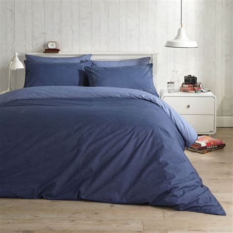 denim duvet cover vantona easy living denim in blue duvet cover set dove mill