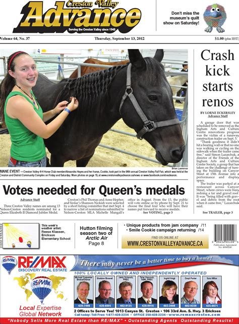 ISSUU - Creston Valley Advance, September 13, 2012 by ...