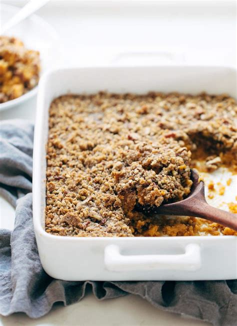 Sweet Potato Casserole With Brown Sugar Topping Recipe