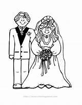 Coloring Pages Bride Groom Colouring Brides Couple Children Printable Grooms Popular Bri Coloringhome sketch template