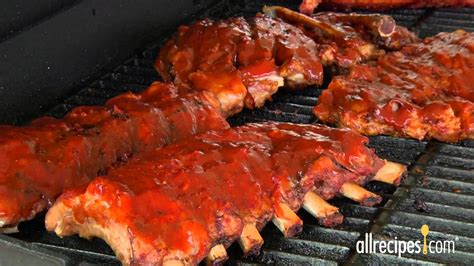 how does it take to bbq chicken how to barbeque ribs allrecipes youtube
